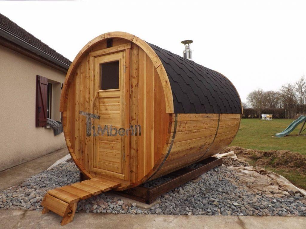 Barrel outdoor saunas