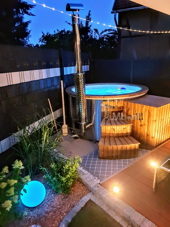 Wood burning hot tubs