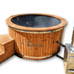 4 - 6 - 7 person outdoor hot tub external stove | wood-fired - diesel - gas