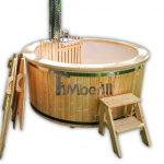 Outdoor jacuzzi hot tub wood fired 4-6 persons
