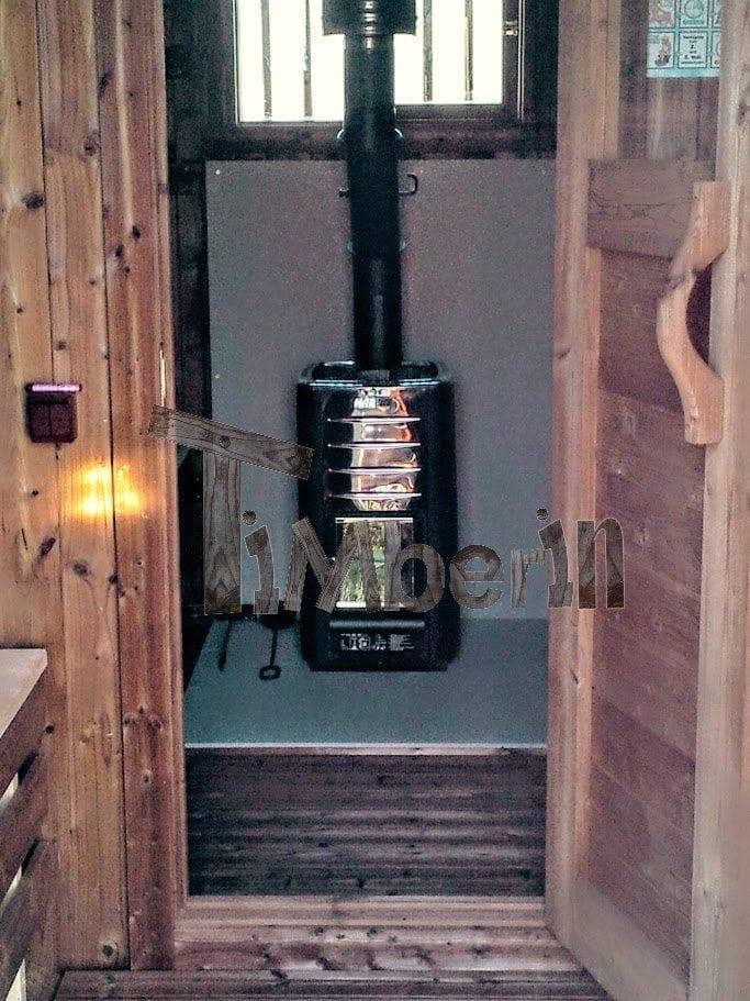 Outdoor barrel sauna Galashiels, UK (2)