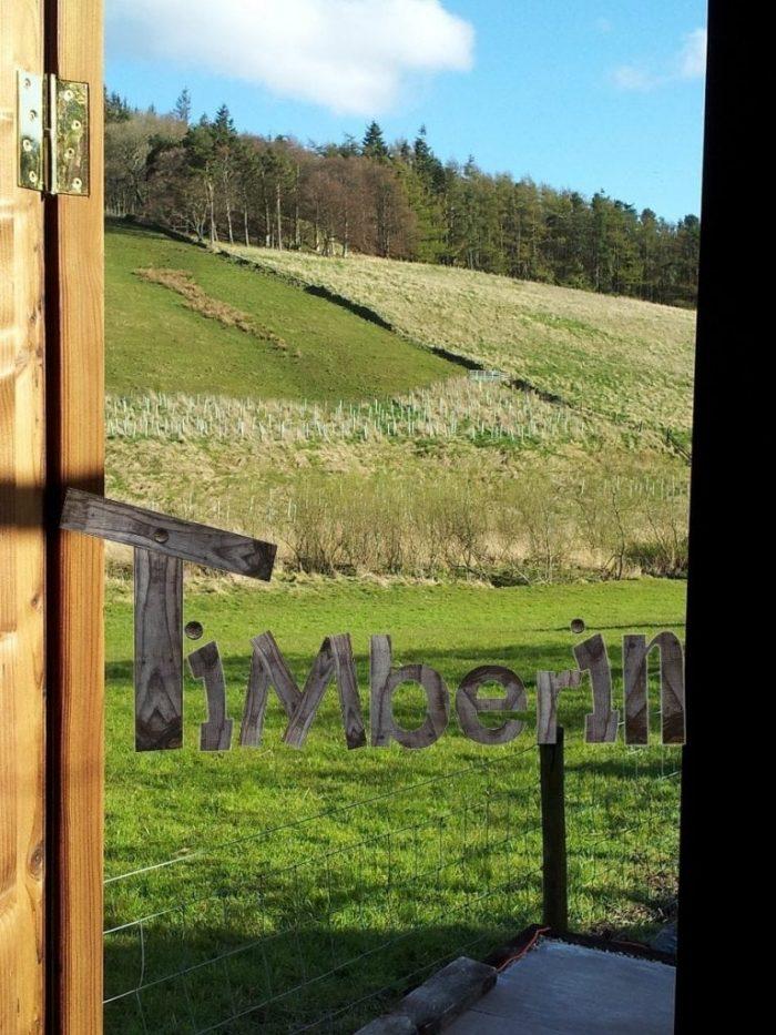 Outdoor barrel sauna Galashiels, UK (3)