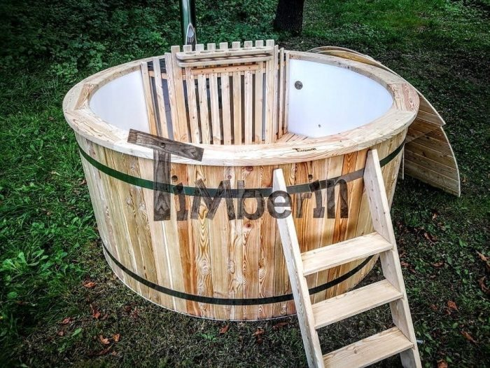 Hot Tub With Snorkel Wood Fired Heater