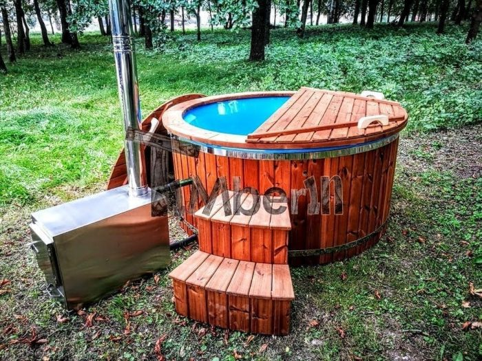 Wood Fired Hot Tub With Extrnal Heater