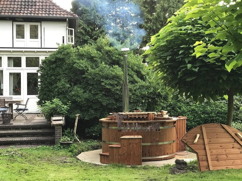 Wooden Outdoor Spa In Thermowood Deluxe, Jeroen, Enschedends, The Netherlands2