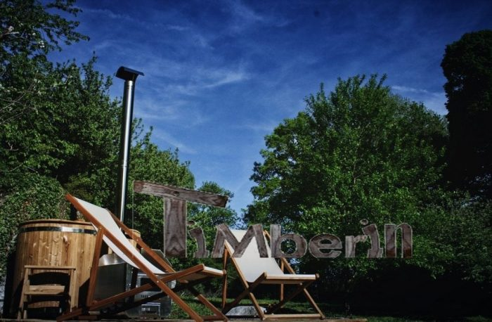 Wooden outdoor in thermowood deluxe, Charley, Sardent, France