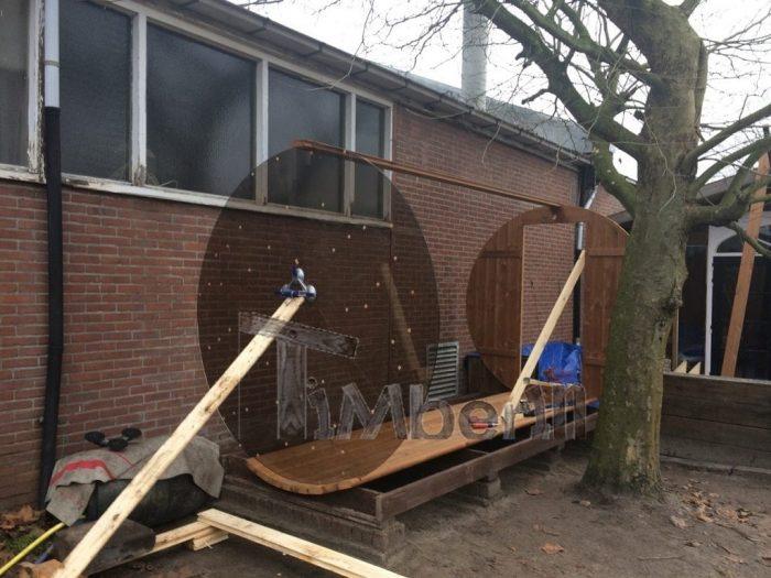 Barrel Sauna 4 M, Thermowood With Full Panorama Glass, Bart, Kaatsheuvel, Netherlands (2)