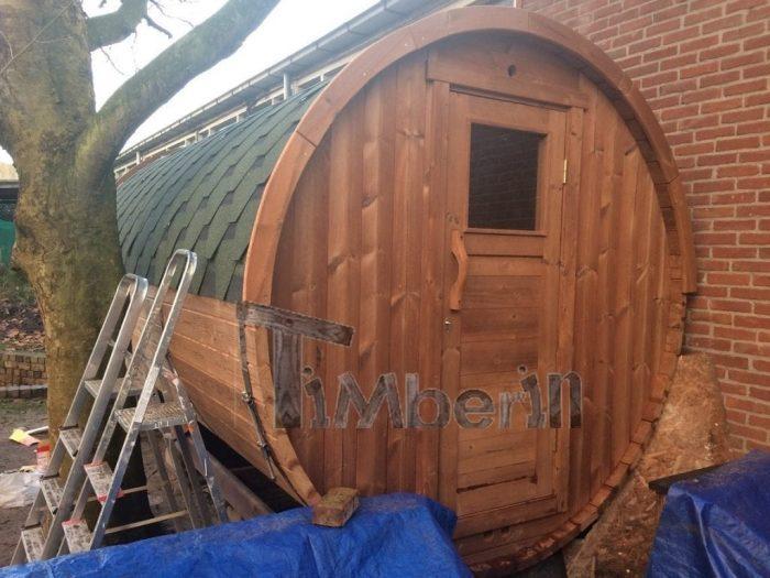 Barrel Sauna 4 M, Thermowood With Full Panorama Glass, Bart, Kaatsheuvel, Netherlands (3)