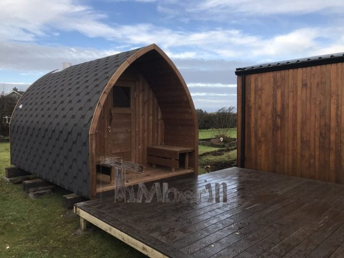 Outdoor Sauna Iglu + Wood Fired Hot Tub With Integrated Wood Burner, Wellness Royal, Paul, Sligo, Ireland (4)