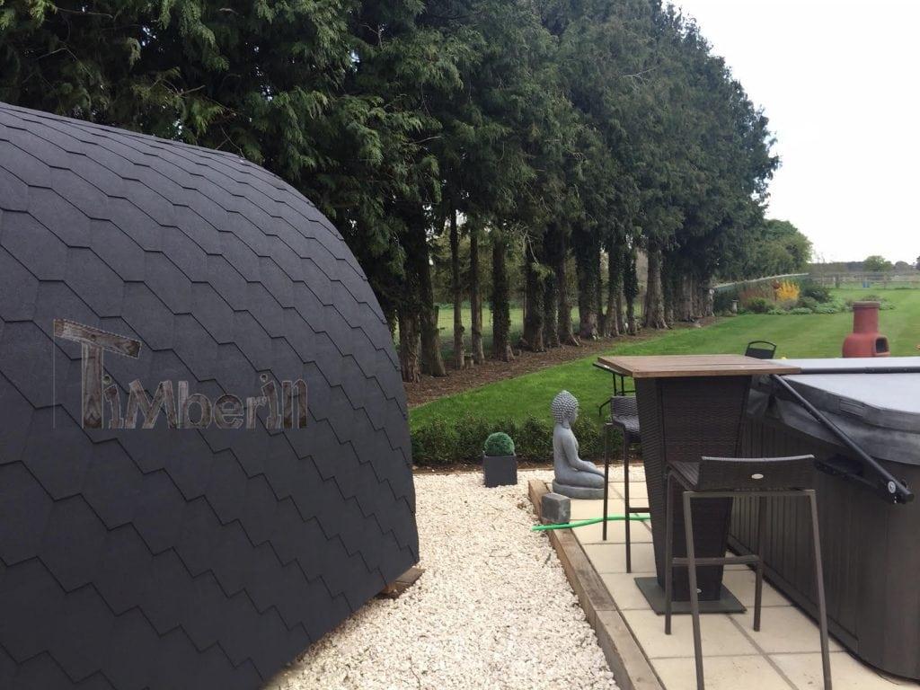 Outdoor Garden Igloo Sauna, Darren, Worlington, U.K. (2)