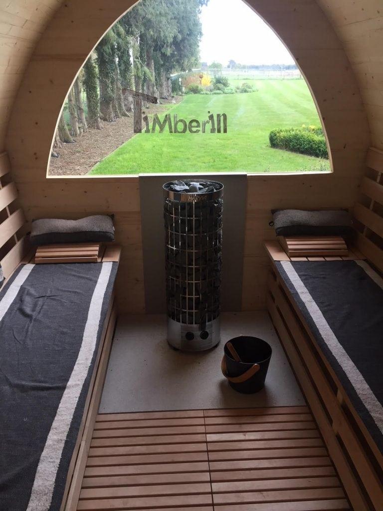 Outdoor Garden Igloo Sauna, Darren, Worlington, U.K. (3)
