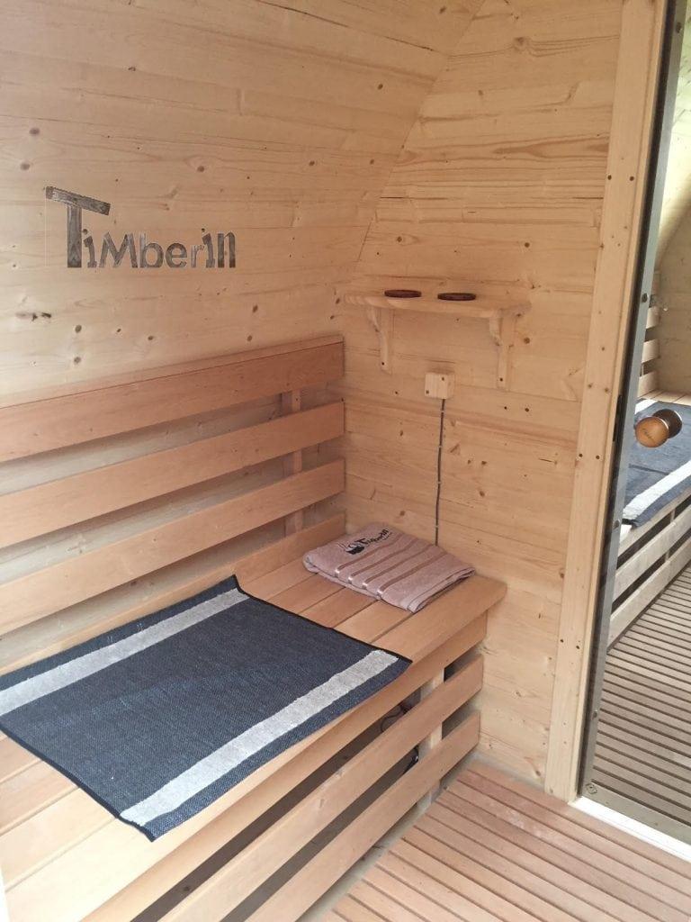 Outdoor Garden Igloo Sauna, Darren, Worlington, U.K. (6)