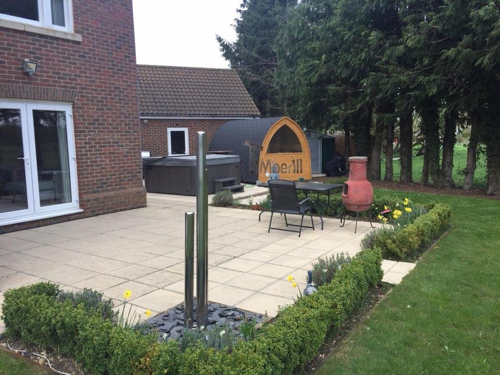 Outdoor Garden Igloo Sauna, Darren, Worlington, U.K. (7)