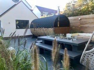 Outdoor Barrel Round Sauna, Heather, Chelmsford, Essex, U (3)
