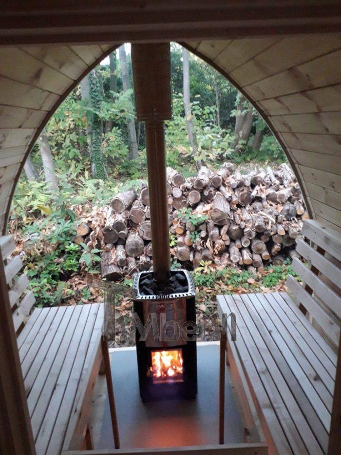Outdoor Garden Sauna Igloo Design, Jolyon, Kent, U K (3)