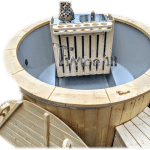 3 - 4 person outdoor jacuzzi wood fired