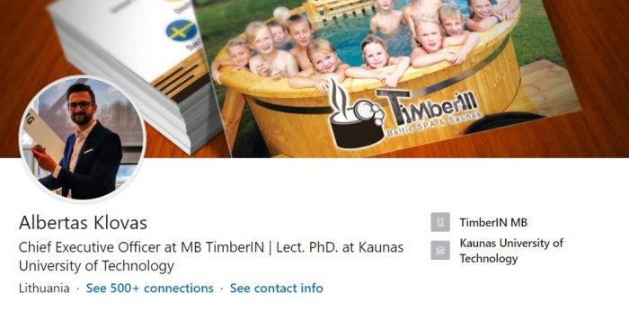 Albertas Klovas TimberIN Linkedin