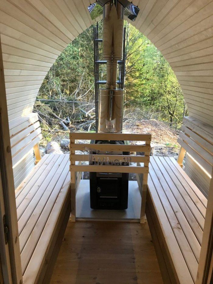 Outdoor Garden Wooden Igloo Sauna, Michael, Färgelanda, Sweeden (1)