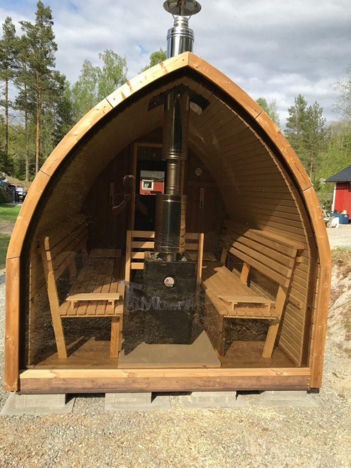 Outdoor Garden Wooden Igloo Sauna, Michael, Färgelanda, Sweeden (4)