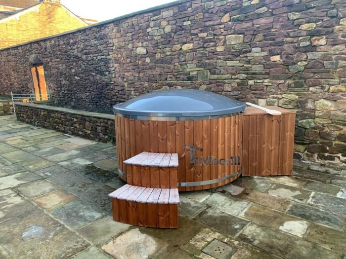 Fiberglass Lined Hot Tub With Integrated Burner Thermo Wood [Wellness Royal], Alex, Chorley, UK (4)