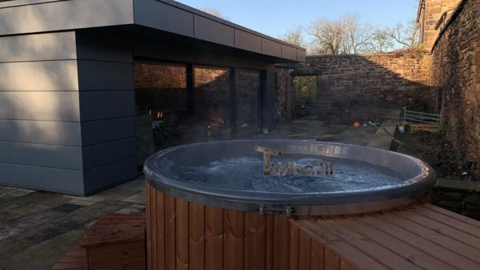 Fiberglass Lined Hot Tub With Integrated Burner Thermo Wood [Wellness Royal], Alex, Chorley, UK (6)