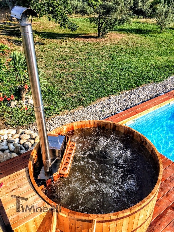 Round Wooden Hot Tubs For 4 – 10 Persons 1