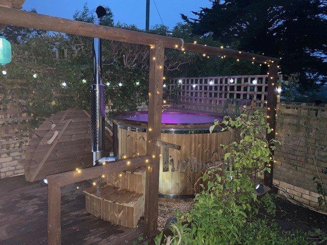 Wood Burning Fiberglass Hot Tub With Jets Wellness Royal, Carl, Crediton, United Kingdom (4)