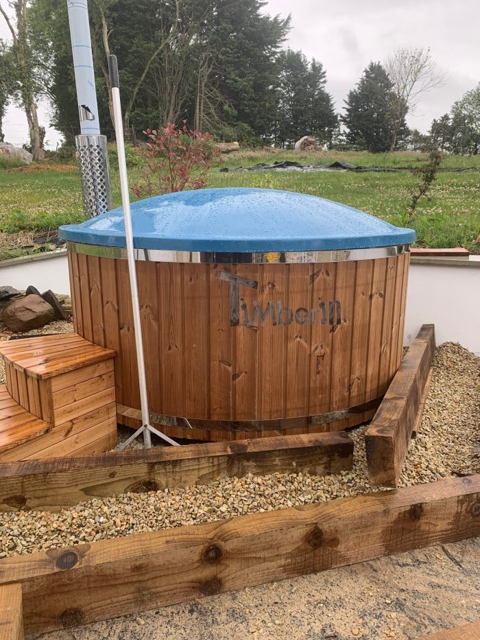 Wood Burning Fiberglass Hot Tub With Jets Wellness Royal, Rachel, Lisburn, United Kingdom