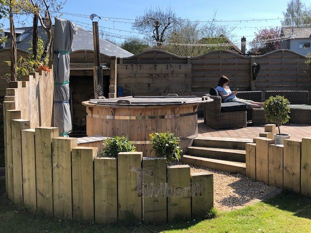 Wooden Outdoor Spa In Thermowood Deluxe, Steph, Ayr, United Kingdom (2)
