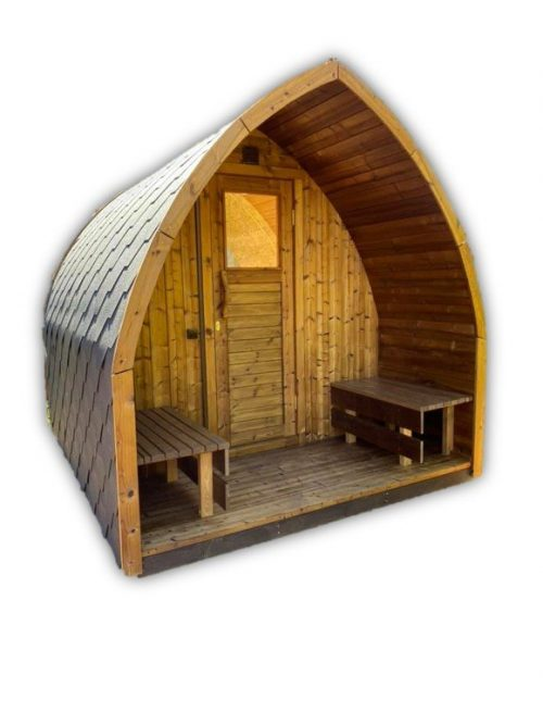 Outdoor sauna pod iglu